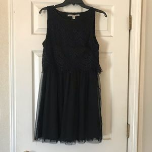 LBD with lace top and tulle skirt